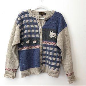 Eddie Bauer Vintage Wool Blend Knit Sweater
